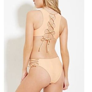 Other - Lace-Up one piece swimsuit